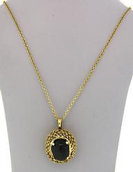 Black Star Sapphire Pendant Necklace