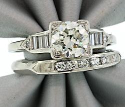 Diamond Bridal Set in Platinum at approx 1.50 CTW