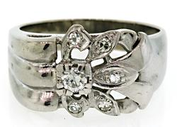 Retro Diamond Flower Ring