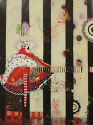 Hand Embellished Giclee on Canvas Alexandra Suarez