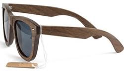 Solid Walnut Wooden Sunglasses Scratch Resistant Lens