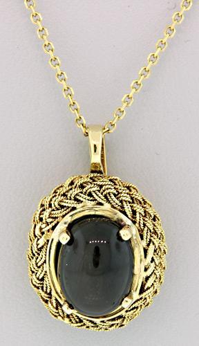 Black star sapphire pendant necklace usauctionbrokers black star sapphire pendant necklace black star sapphire pendant necklace aloadofball Choice Image