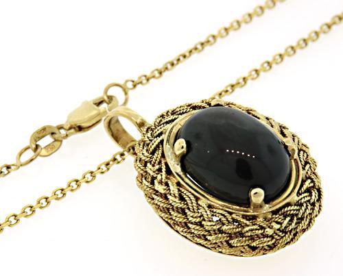Black star sapphire pendant necklace usauctionbrokers black star sapphire pendant necklace aloadofball Choice Image
