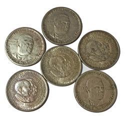 6 US Silver Commemorative Half Dollars