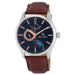 New Mens Lucien Piccard Retrograde, GMT, Date