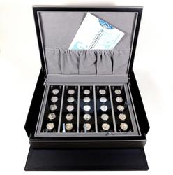 China Silver Panda 25th Anniversary 2007 coin set w/Box