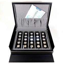 China Silver Panda 25th Anniversary 2007 coin set w/Box