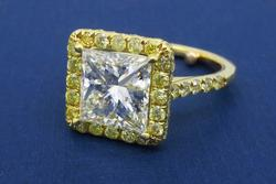 Princess Cut Diamond Ring 3.63CTW