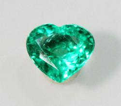 Stunning & Bright Natural  Emerald Heart - 0.76 ct.