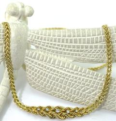 Superb 14kt Gold Rope Style Diamond Necklace