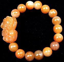Beads Yellow Jade Bangle Bracelet