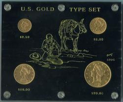 US Gold Type Set 4pc Liberty