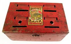 Early Metal Budget Bank by Louis Marx Co.