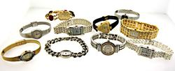 Group lot of 10 Ladies Watches, One Non Functiong