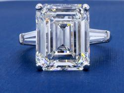 GIA Certified 6.21CT Emerald Cut Diamond Ring