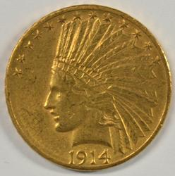 Great 1914-D US $10 Indian Gold Piece