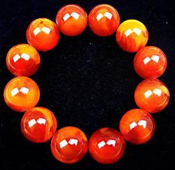 Round Beads Beewax Bangle Bracelet