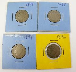 4 V Nickels 1896-1899