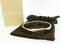 Michael Kors Gold Tone Plaque Bangle Bracelet