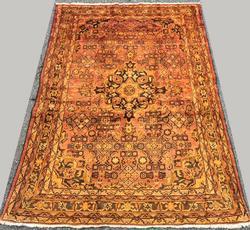 Very Unique 1950s Handmade Vintage Persian Rug