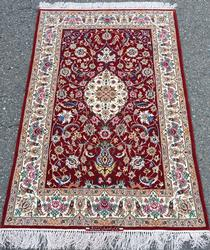 Lovely Super Fine Part Silk Authentic Handmade Royal Persian Isfahan