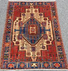 Inspiring Mid Century Hand Knotted Vintage Persian Gorg-Heydar