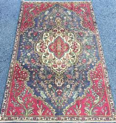 Darling Mid Century Authentic Handmade Vintage Fine Persian Kerman