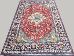 Fabulous Rare Size 1950s Authentic Handmade Vintage Persian Isfahan
