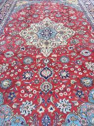Rare Size Large 1950s Handmade Vintage Persian Isfahan