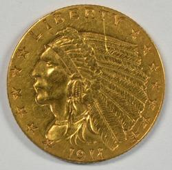 Desirable 1911 US $2.50 Indian Gold Piece