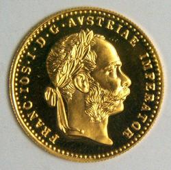 Deep Prooflike BU Austria 1 Ducat Gold Piece dated 1915