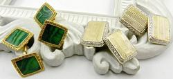 2 Pairs of Classic Gold Cufflinks