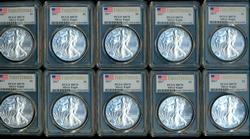 10 Perfect Gem BU 2017 First Strike $1 Eagles PCGS MS70