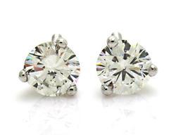 VS Diamond Stud Earrings, Certified