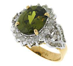 Chrysoberyl & Diamond Ring in 18K