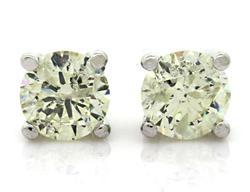 1.84 CTW Diamond Studs