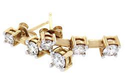 1.0 CTW Diamond Drop Earrings