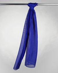 Royal Blue Solid Chiffon Scarf