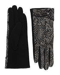 Ladies Black & Animal Print One Size Glove