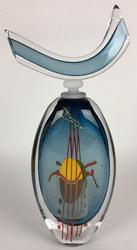 Hand Blown French Art Glass Flacon, Signed
