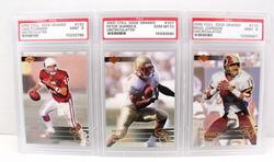 3 Collector's Edge Graded Football Cards, 1 of 5000