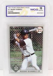 Manny Ramirez Rookie Baseball Card, 10 GEM-MT