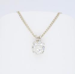 Stunning Large 1.11CT Diamond Pendant