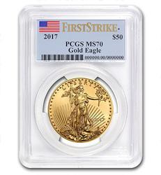 2017 $50 Gold Eagle MS70 PCGS FS