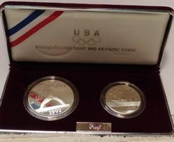 2 pc set 1992 Olympic Proof Set, Dollar and Half