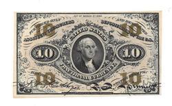 GEM Unc 10 Cent Fractional Currency note FR 1251