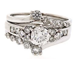 1.21 CTW Interlocking Bridal Set
