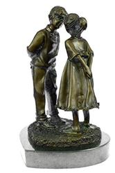 First Kiss Bronze Sculpture on marble base Figurine