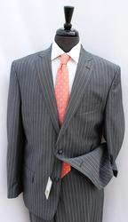 Stylish 2-Button Stripe Suit, Made In Italy