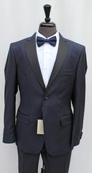 One Of A Kind Navy Color Italian Slim Fit Tux